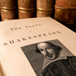 Book showing an image of Shakespeare